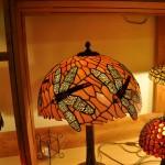 Szitakötős asztali Tiffany lámpa