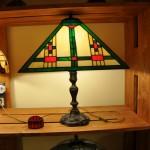Tiffany lámpa szögletes formákkal