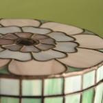 Virágos ékszerdoboz Tiffany üvegből